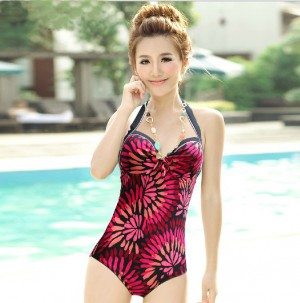 レディースプリント水着 ビキニ セクシー 三角ビキニ 連体式 女性の美しいシルエット