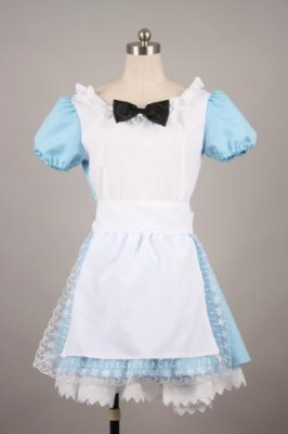 メイド服 ミニ丈   制服 コスプレ衣装 ブルー衣装