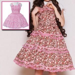 ミチル ヨーク2つリボン花柄ジャンパースカート  ゴスロリロリータパンクコスプレコスチュームメイド衣装