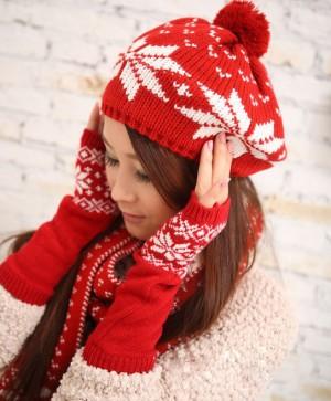 アフラー+帽子+手袋セットレディース冬