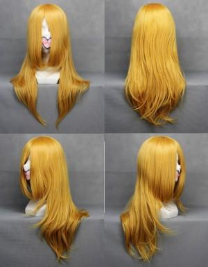 ファイナルファンタジー ステラ・ノックス・フルーレ マイクロ巻で厚くする 長い前髪 巻き毛 ウィッグ