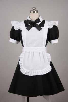 メイド服 ミニ丈   制服 コスプレ衣装 ブラック衣装