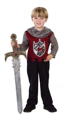 中世 ルネッサンス コスチューム/グッズ キッズ 中世 赤い騎士 コスプレ 衣装 ハロウィン 子供用コスチューム(男の子)