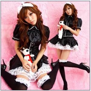 可愛いメイド服装 プリンセスライン コスチューム ステージ衣装
