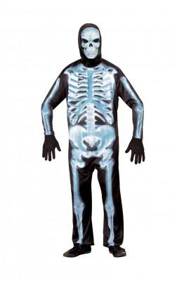 ハロウィーン 衣装 パーティー ハロウィン・コスチューム 恐怖の靑いX線骨格装 コスプレ衣装