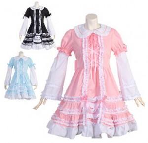 メゾフォルテ ドレス  ゴスロリロリータパンクコスプレコスチュームメイド 衣装