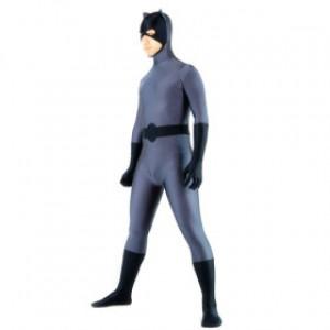 グレー ライクラ バットマン 全身タイツ衣装