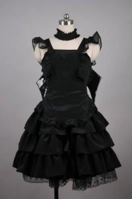 メイド服 ミニスカート   制服 コスプレ衣装 ブラック衣装