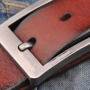 牛革本革 ベルト バックル カジュアル バンド メンズ メンズ