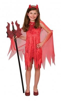 ハロウィン 衣装 キッズ 赤悪魔 マント付 ガール コスチューム