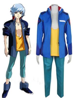 機動戦士ガンダムSEED DESTINY 地球アライアンス ブルー男性制服コスプレ衣装