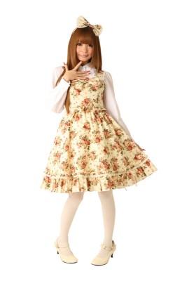 Cream doll ジャンパースカート[ホワイトブルーム]コスプレ衣装コスチューム