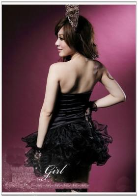 オールブラック キラキラ プリンセスライン コスチューム デラックスドレス セクシー