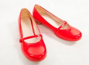 新番★たまこまーけっと ★北白川 たまこ コスプレ靴★cosplay 赤