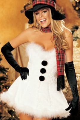 ホワイトセクシークリスマス ドレス サンタ コスプレ サンタクロース