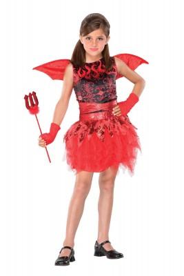 ハロウィン 衣装 キッズ 赤悪魔 デビル 羽付 コスチューム