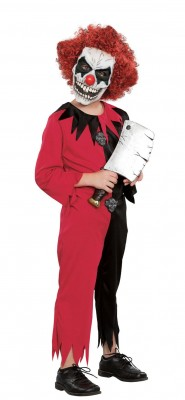 ハロウィン 衣装 ピエロジャンプスーツ マスク付き 子供用 ハロウィン コスチューム コスプレ(男の子)