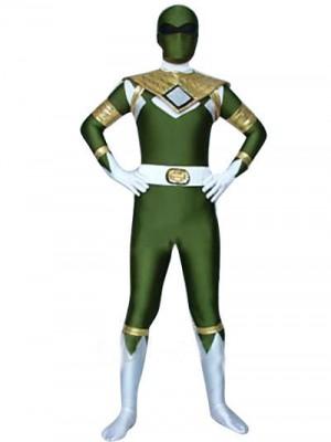 ラバー シューパー・ヒーローコスチューム 全身タイツ グリーン『轟轟戦隊ボウケンジャー衣装』