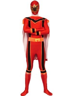 レッド スパンデックス ライクラ 戦闘員 タイツ 全身 タイツ衣装