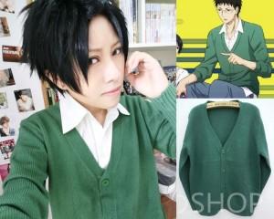 コスプレ衣装 黒子のバスケ 日向順平 セーター 緑