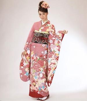 2013年新作 絵羽柄 振袖単品 洗える着物 送料無料セール