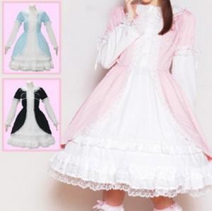 フォンテーヌ フロント切り替えドレス L103 ゴスロリ ロリータ パンク コスプレ コスチューム メイド 衣装