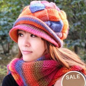 カシミヤマフラー帽子毛糸帽子 100%ウール2セット
