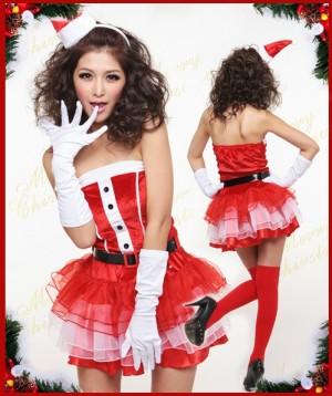 クリスマス衣装 パーティー サンタドレス コスプレ コスチューム