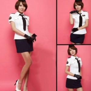 ポリエステル 警察官制服 5点セット衣装