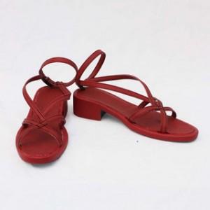フェアリーテイル Fairy Tail レビィ・マグガーデン レッド 低ヒール コスプレ靴