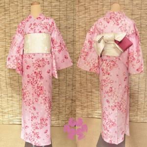 和服 着物 お得なセットのレディース浴衣 送料無料 桜柄