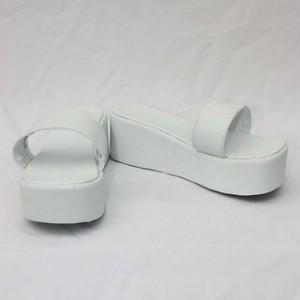 フェアリーテイル Fairy Tail エバーグリーン ホワイト 合皮 ゴム厚底 コスプレ靴