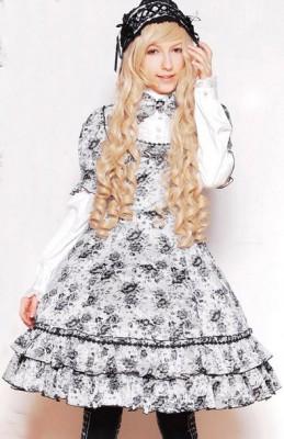マイセン 単色フラワードレス ゴスロリロリータパンクコスプレコスチュームメイド衣装