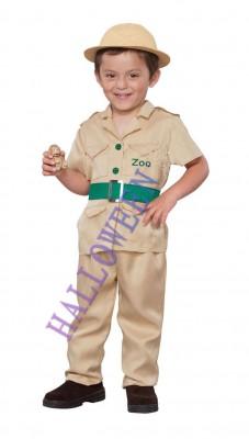 子供用 動物園の管理者スーツ ハロウィン  衣装 コスチューム コスプレ(男の子)
