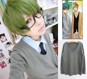 コスプレ衣装 黒子のバスケ 緑間真太郎 セーター グレー