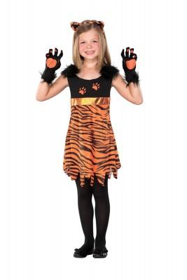 ハロウィン衣装子供用 ガール 勇猛トラ装 ハロウィーン コスチューム