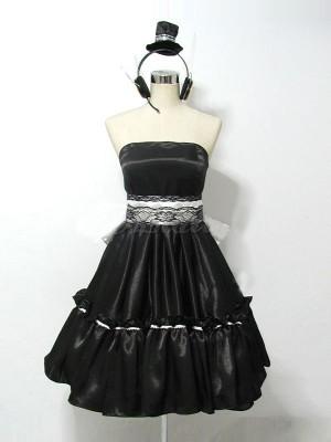 鏡音リン magnet風コスプレ衣装 ドレス風(黒)