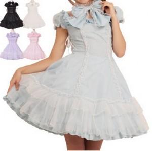 シャーベットドレス  ゴスロリ ロリータ パンク コスプレ コスチューム メイド衣装