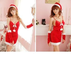 セクシー クリスマス衣装 パーティー サンタドレス コスプレ コスチューム