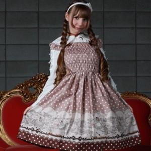 ナディア水玉ドレス L029 ゴスロリロリータパンクコスプレコスチュームメイド衣装