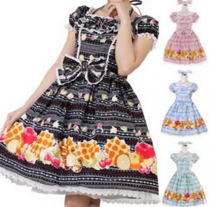 フルーツワッフルドレス  ゴスロリ ロリータパンク コスプレ コスチューム メイド衣装