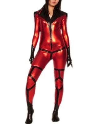女性用 メタリック 戦闘員 タイツ 全身 タイツ衣装