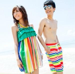 カップル水着 ビキニ 砂浜装カップルスーツ