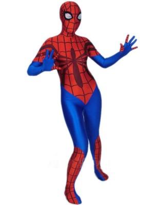 女性用 ライクラ スパンデックス スパイダーマン 全身 タイツ衣装
