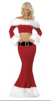人魚姫クリスマス衣装 ドレス サンタ コスプレ サンタクロース