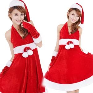 セクシー クリスマス イブニング・ドレス サンタコスチューム