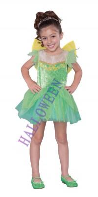 ハロウィン 衣装 コスプレ ガール グリーン精霊服 子供用 コスチューム