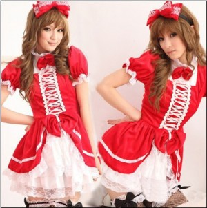 可愛いロリータ系メイドドレス コスプレ イベント 衣装 コスチューム