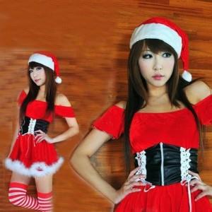 セクシーベアトップサンタコスチューム クリスマスドレス