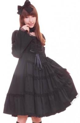 エリーゼハイウエストドレス  ゴスロリ ロリータ パンク コスプレ コスチューム メイド衣装